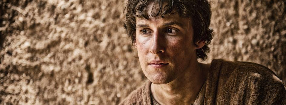 Scene 6/22 - Ext Nazareth Village; Gabriel (EDDIE ELKS) advises Joseph (JOE COEHN) to take Mary as his wife.